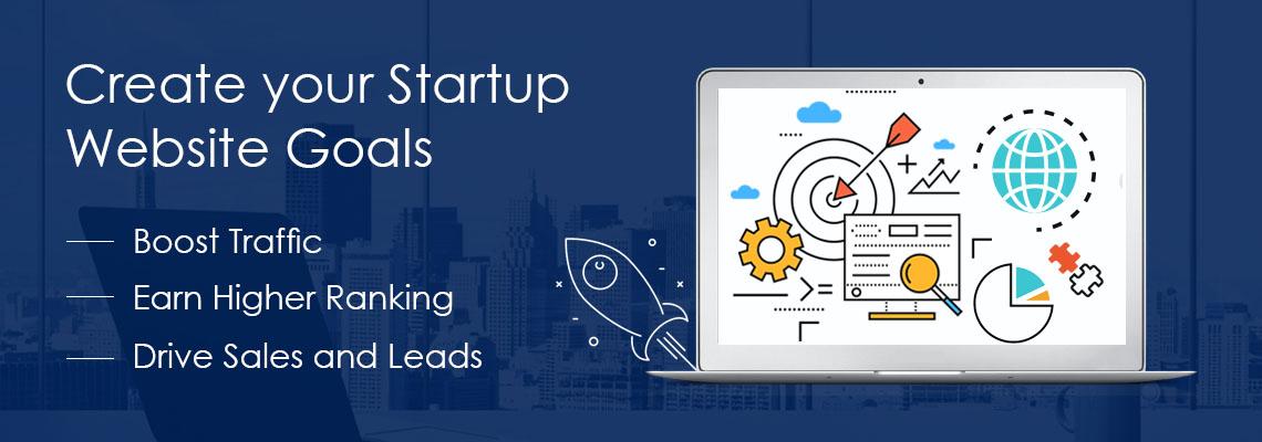 Startup Website Goals
